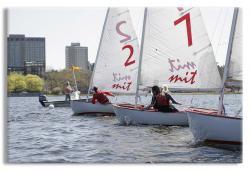 Sailboats Racing on the Charles River Boston