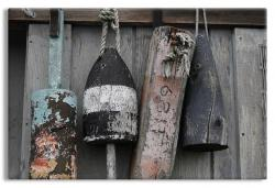 Fisherman's Buoys on Wooden Shack
