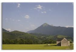 Farmer's field in the French Pyrenees
