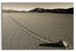 Moving Stone in Death Valley National Park