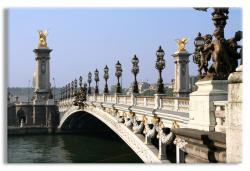 The Pont de la Concorde across the Seine near the Place de la Concorde in Paris