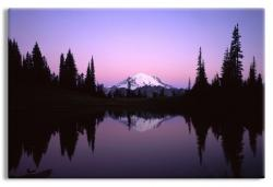 Mt. Rainier reflecting in Tipsoo Lake