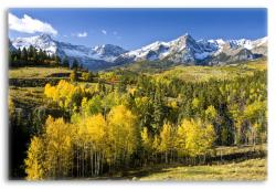 Mountain Landscape of Colorado in Fall