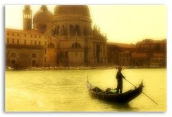 Gondola in the Venetian Lagoon