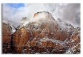 Storm Shrouded Peak, Zion National Park