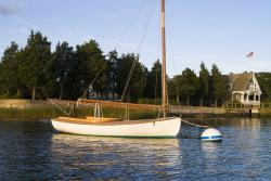 Cape Cod Sailboat at Harbor Mooring