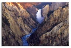 The Lower Falls on the Yellowstone River