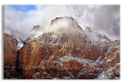 Storm Shrouded Peak, Zion National Park