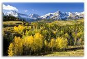 Mountain Landscape of Colorado in Fall